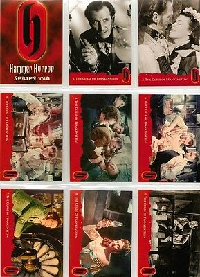 Hammer Horror Series 2 Full 54 Card Base Set of Trading Cards from Strictly Ink