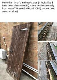 Scrap wood from dismantled shed