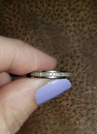Ladies Womens Engagement/ Wedding/ Eternity 18K White Gold Size J/K Diamond Ring