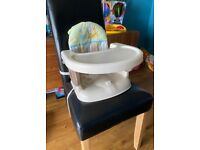 Portable booster seat with feeding tray