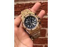 Audemars piguet diamond iced out gold not Rolex Cartier