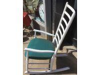 Vintage ladder back rocking chair