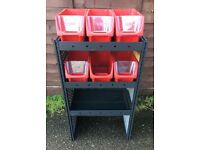 Van Racking / Shelving - MODUL - 3 Shelf Unit - 6 Storage Boxes - Good Condition - Tool Station