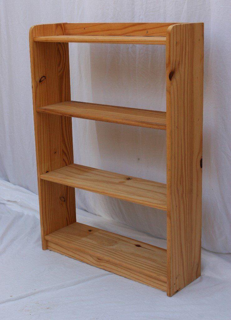 Small Pine Open Back Bookcase Four Shelves In Torquay Devon