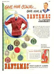 1948 large full-page color ad for Bantamac Jackets