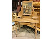 Satinwood Dressing Table With Mirror - Bedroom - Dressing Room