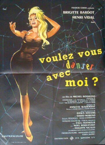 COME DANCE WITH ME VOULEZ VOUS DANSER French movie poster 24x32 BRIGITTE BARDOT