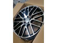 """x4 19"""" A45 CLA45 C63 Style Alloys Amg 8.5/9.5 Mercedes C E S Class Black Pol"""