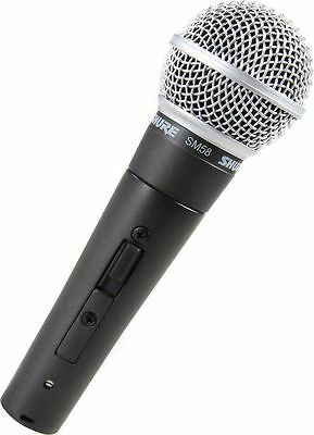 SM58S Shure SM58 Vocal Microphone (with On Off Switch) Professional Microphone