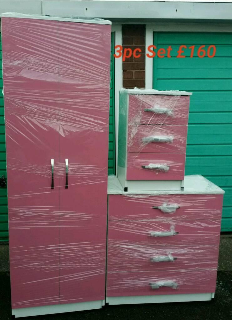 Great Quality Pink Wardrobe Set
