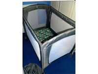 Mothercare Travel cot with mattress and sheets