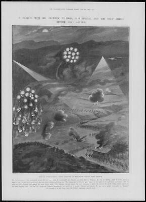 1904 Antique Print - PORT ARTHUR Nightime Fighting Suichi Valley Villiers (264)