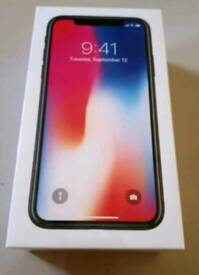 Iphone X 64GB unlocked brand new condition