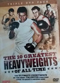 Boxing DVD x3 - The 10 Greatest Heavyweights of all time