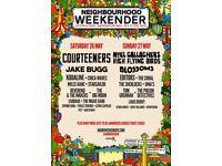 2X neighbourhood weekender tickets