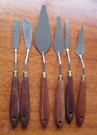 12 PAINTING PALATE KNIVES