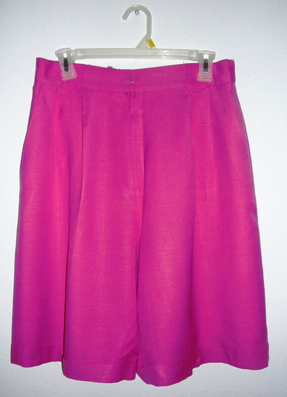 VP COLLECTIONS SHORTS~Pink~Pleated Front~Elastic Back~Miss Size16~FREE SHIP