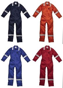 New-Dickies-WD5050-Flame-Retardant-Firechief-High-Visibility-Overalls-Boilersuit