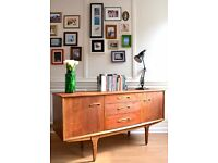 "Stylish Vintage ""Jentique"" teak sideboard. Delivery. Modern/ Danish style."
