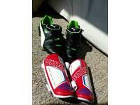 Puma Football Boots and Umbro Shin Pads