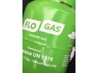11kg flo gas leisure propane cylinder partially full