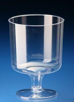 50 Einweg Weingläser Weinglas 200ml Plastikbecher Plastikgläser Einweg / per DHL