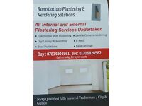All Internal and External Plastering Services