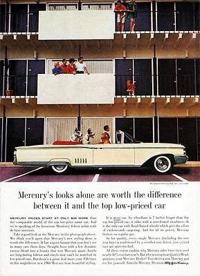 Lane Old Print (Old Print. 1960 Mercury Park Lane Convertible Auto Ad)