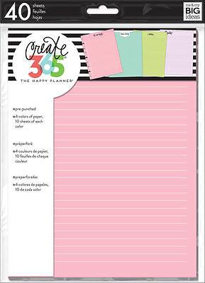 Create 365 The Classic Happy Planner Colored Perper Refills   Multicolored