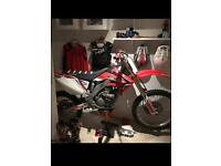 2007 crf 250 twin pipe with lots of extras
