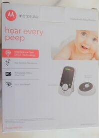Motorola MBP160 Audio Baby Monitor - White/Black ~ NEW