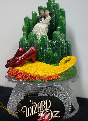 - Emerald City Wizard of OZ Wedding Cake Topper ruby slipper Glass