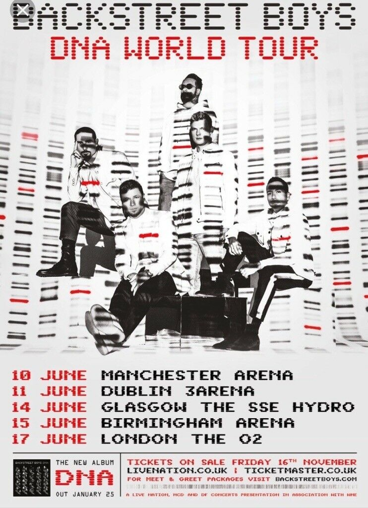 Backstreet Boys Dna Tour O2 London Tickets In Bexley London