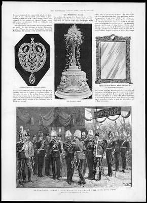 1894 Antique Print GERMANY ROYAL WEDDING Duke Coburg Emperor Railway Station (62