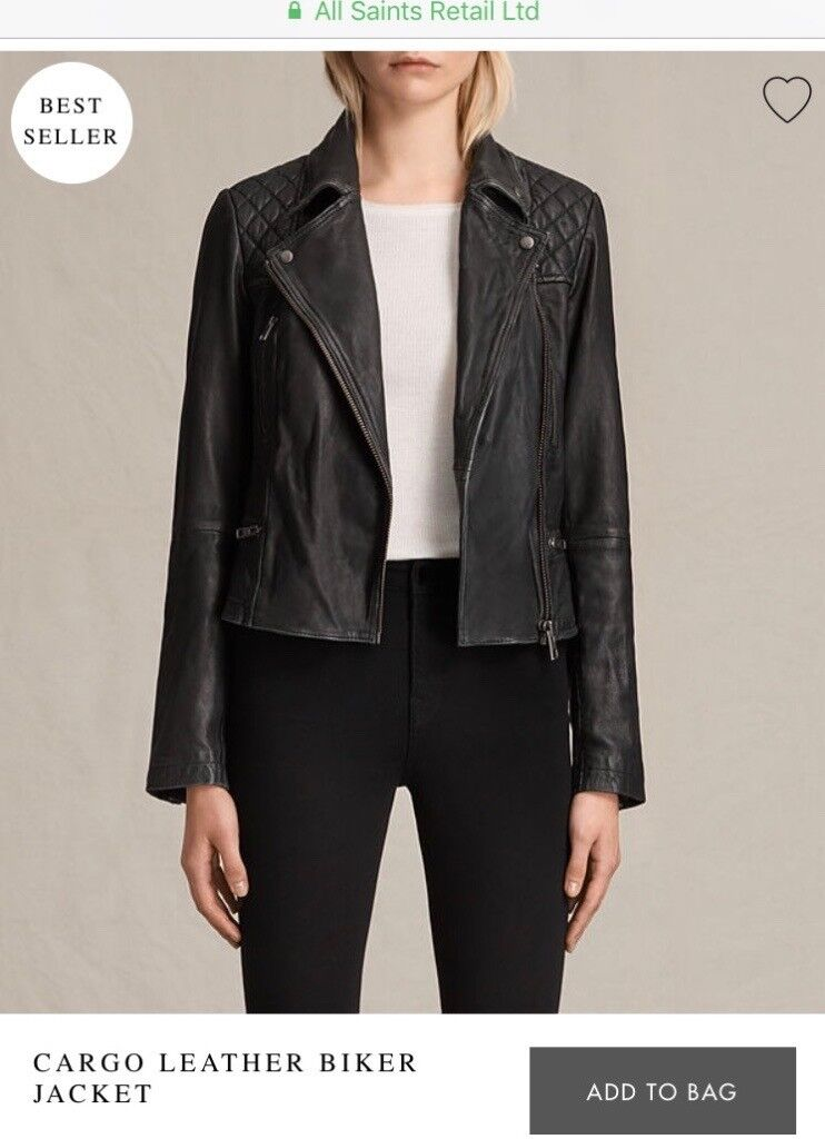 All Saints woman's cargo leather jacket