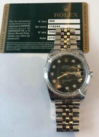 Factory diamond Rolex datejust