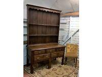 Rare Antique Vintage Oak Farmhouse Large Welsh Dresser Rack *DELIVERY INCLUDED* (Sideboard pine)