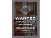 WANTED Old and 1950 / 1960 FURNITURE, House and Garage Clearances