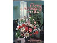 4 vintage Flower Arranging books