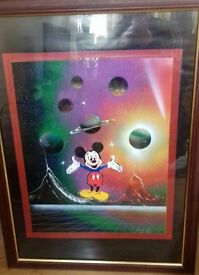 micky mouse art work in space scene