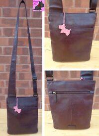 RADLEY Medium 'Pocket Bag' Dark Brown Leather Messenger *Excellent*