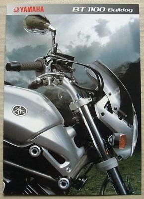 YAMAHA BT1100 BULLDOG Motorcycle Sales Brochure c2002 #3MC-BT 1100BRO-02E
