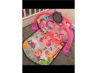 Fisher price pink piano play mat