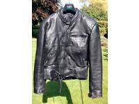 Vintage Rhino Leather m/cycle jacket, Gents Size 46 unblemished, unworn, circa. 1990s