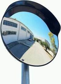 Convex polycarbonate traffic mirror, Black