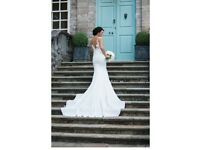 Stunning Pronovias size 10 Vicenta wedding dress and matching veil