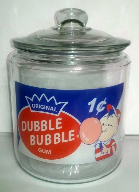 A Hard to Find Double Bubble Glass Counter Jar
