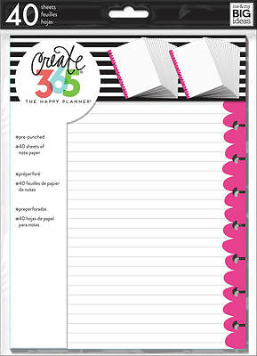 Create 365 The Classic Happy Planner Colored Perper Refills   Pink
