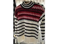 2 PRETTY MARKS AND SPENCER SIZE 14 JUMPERS LITTLE USED, BARGAIN ONLY £12 PAIR, CAN POST