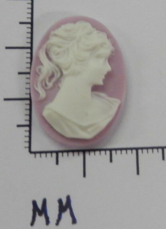70267        Cameo - Vict. Lady W/Long Hair Lilac/wht. Oval 25x18  - by dz. SALE